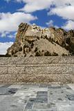 Mount Rushmore from walkway.