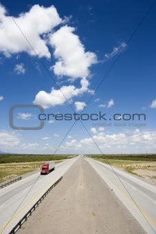 Highway with truck.
