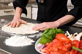 Making Pizza Dough Detail