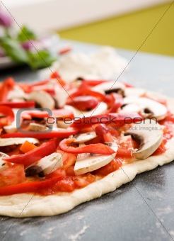 Homemade Pizza Detail