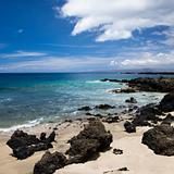 Rocky beach in Maui.