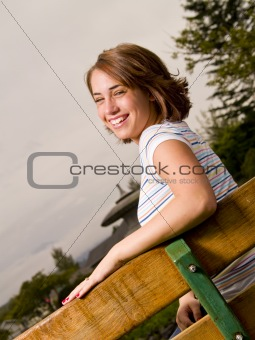 Happy Teen Girl Portrait