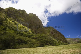 Maui mountain landscape.