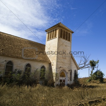 Old abandoned  church.