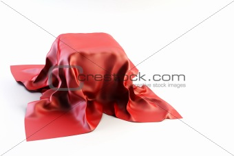 box covered by cloth