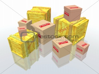 boxes and packages