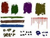 Grunge elements - An Assortment of Grunge elements 1