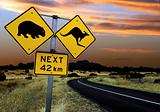 Australian road sign