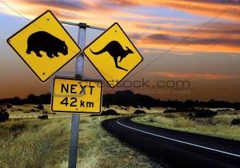 Australian road sign