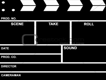 image 363575: film clap board from crestock stock photos, Powerpoint templates