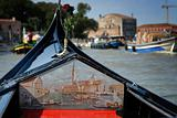 View from Gondola in Venice, Italy