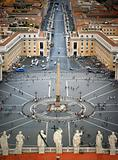 St. Peter's Square, Rome, Viewed from Top of the Vatican