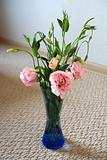 Bouquet of pink flowers in vase