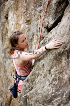 Female Climber