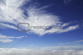 Sky above clouds