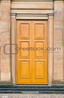Antique castle door