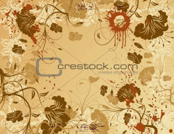 Abstract grunge flower background
