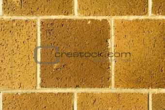 Brick Wall close-up at Sunset