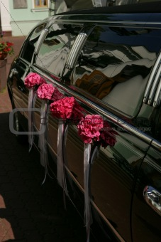 Black Limousine Wedding Car
