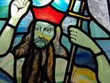 Stained glass window of Jesus Christ