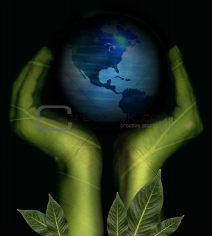 Green hands - Earth conservation