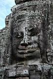 Stone face in temple Bayon, Angkor, Cambodia