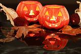 Halloween candle-light