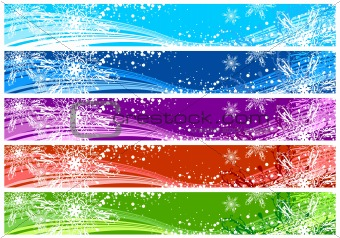 Christmas banners for Internet (468x60 and 730x90 sizes)  with s