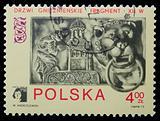 Poland - CIRCA 1973: A stamp - Bas-relief