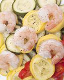 Fresh Steamed Vegetables and Shrimp