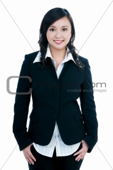 Attractive businesswoman smiling