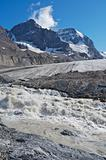 Athabasca Glacier with melt water 02