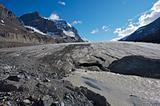 Athabasca Glacier with melt water 04