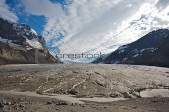 Athabasca Glacier in Jasper National Park