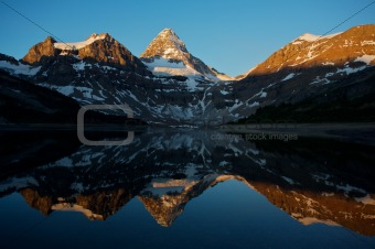 Mount Assiniboine with reflection