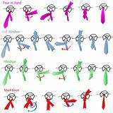 Vector tie and knot instructions