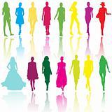 Models on fashion runaway