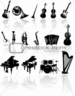Music instrument vector