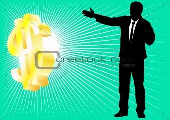 Businessman and dollar