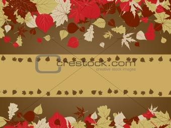 Art autumn vintage background. EPS 8