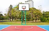 Basketball field in the park.