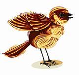 Cute little bird illustration.