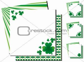 Set of clover background