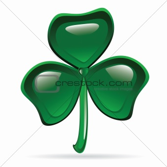 Abstract Glossy Shamrock