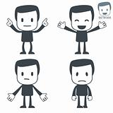 Emotions. Icon man. Set#005