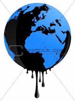 Earth oil pollution
