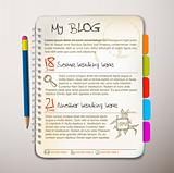 Blog web site template