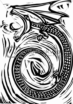 Woodcut Dragon