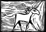 Woodcut Unicorn