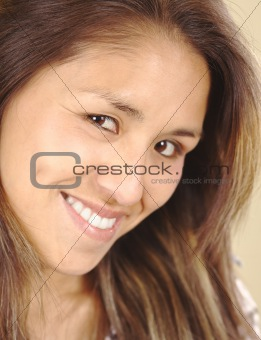 Smiling Beautiful Young Peruvian Woman
